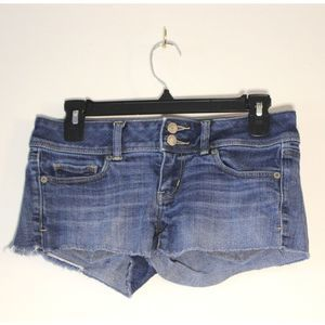 American Eagle Double Button Cut Offs
